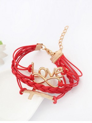 New Korean version Password love Cross Bracelet
