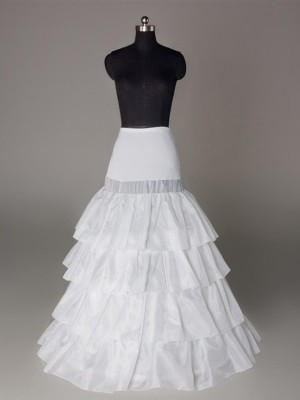 New Nylon A-Line/Princess 4 Tier Wedding Petticoat