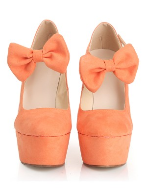 New Closed Toe Suede Wedge Heel Platform Wedges Shoes