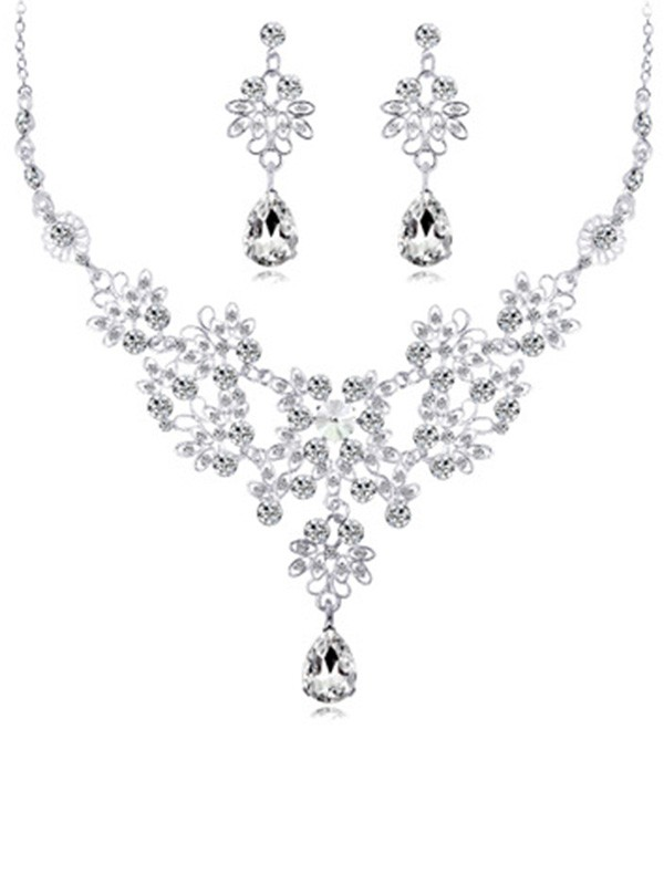 Alloy Wedding Bridal Jewelry Set