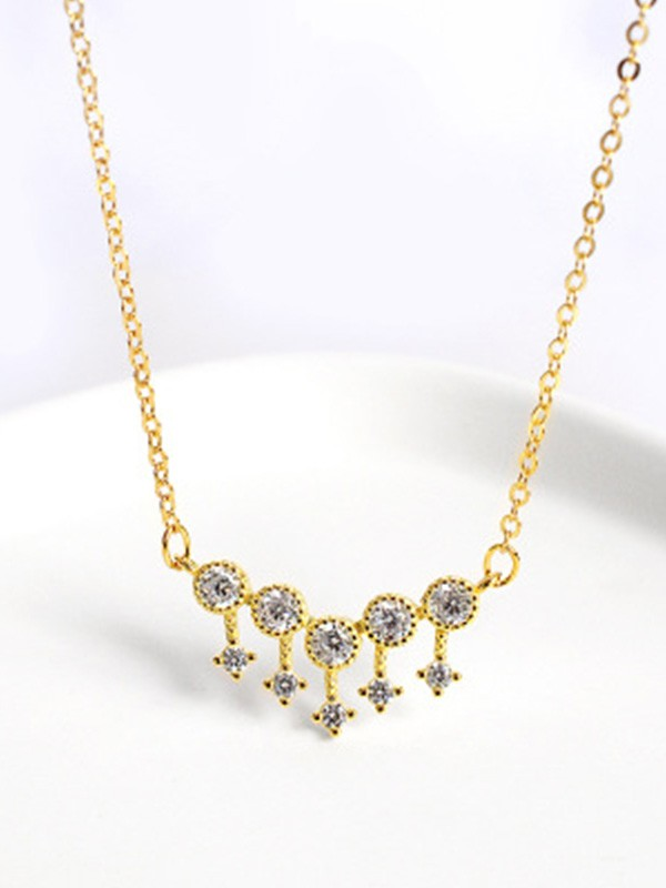 Silver Rhinestone Necklaces