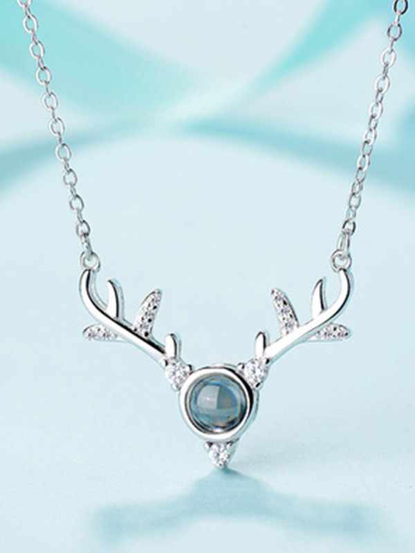 Silver Antler Necklaces