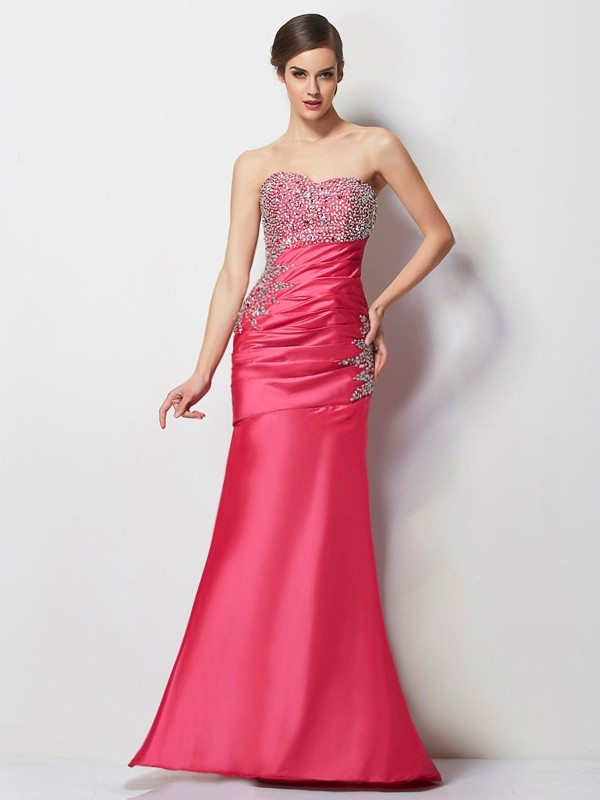 Mermaid Sweetheart Long Taffeta Dress