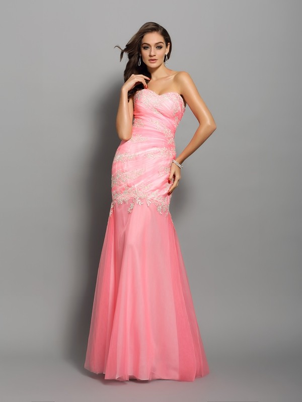 Mermaid Sweetheart Long Elastic Woven Satin Dress
