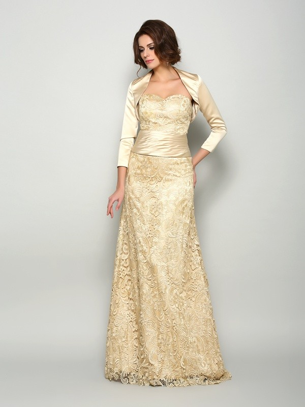 A-Line/Princess Sweetheart Long Satin Mother of the Bride Dress