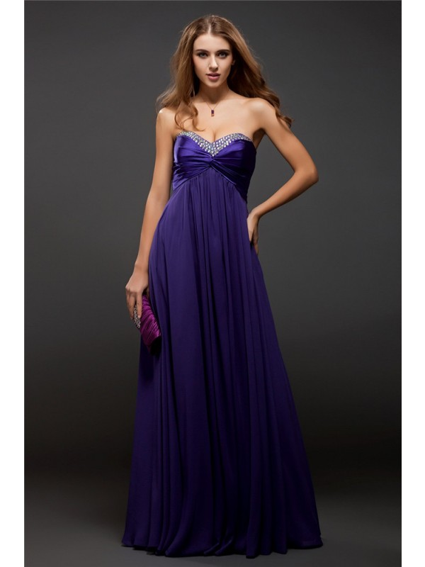 Sheath/Column Sweetheart Long Chiffon Dress