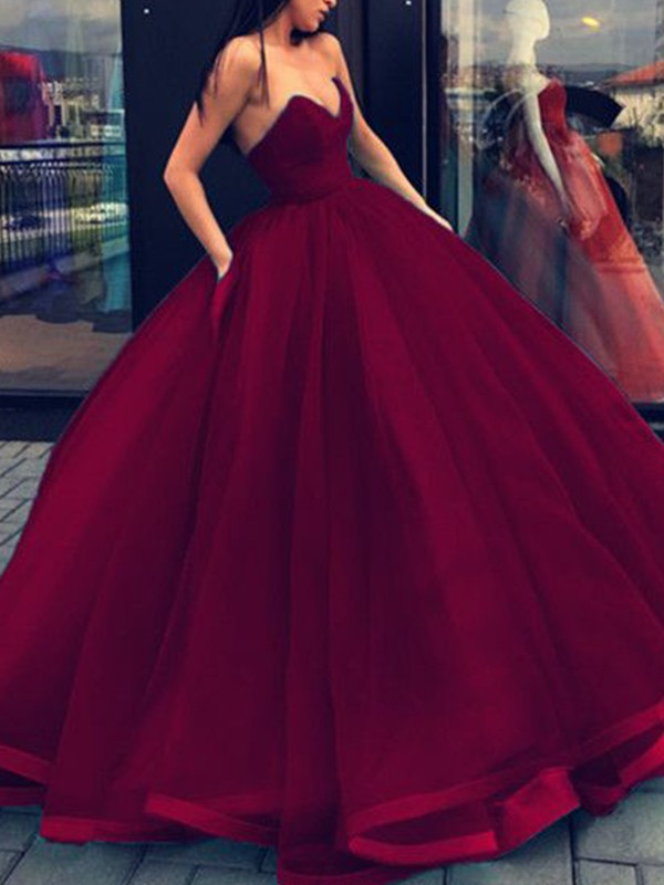 Ball Gown Sweetheart Organza Long Dress