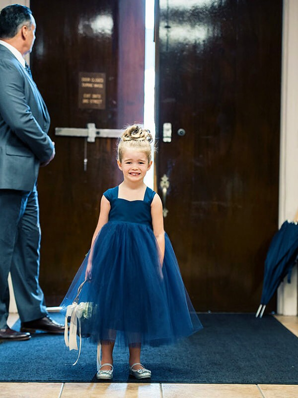 Ball Gown Sweetheart Tea-Length Tulle Flower Girl Dress