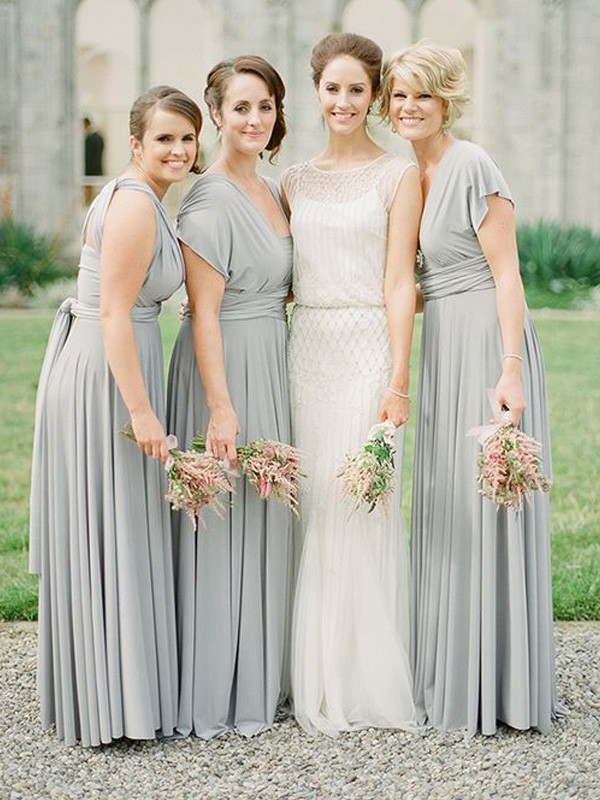 A-Line/Princess Long Chiffon Bridesmaid Dress