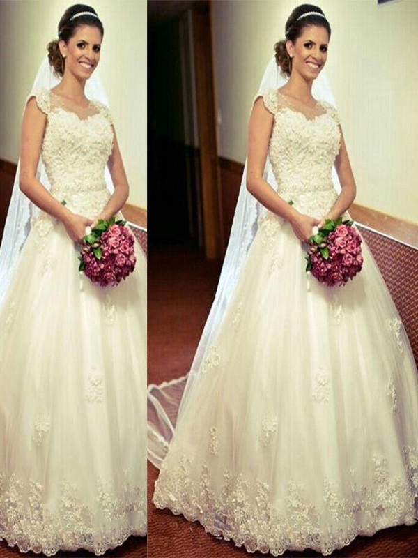 Ball Gown Tulle Long Sweetheart Wedding Dress
