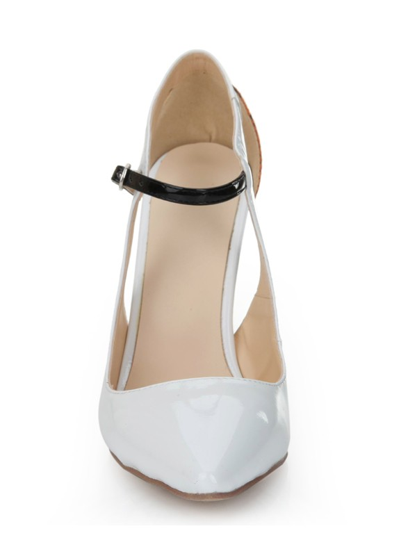New Stiletto Leather Closed Toe High Heels