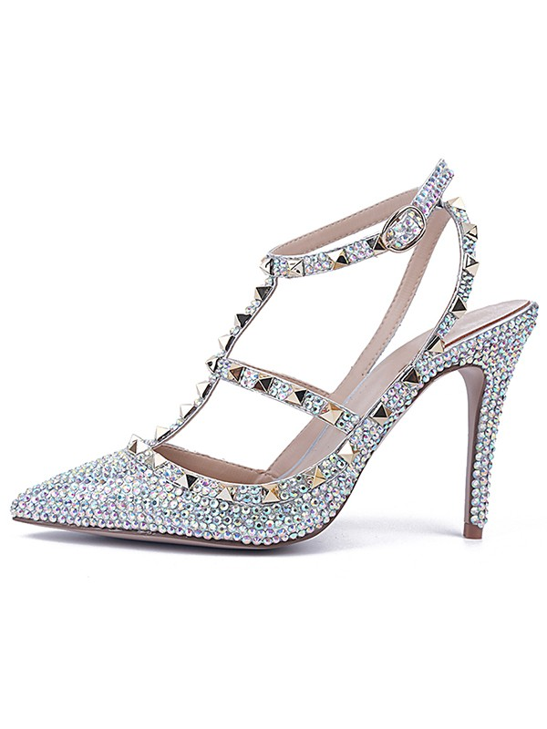 New Stiletto Leather Closed Toe Sandals Shoes