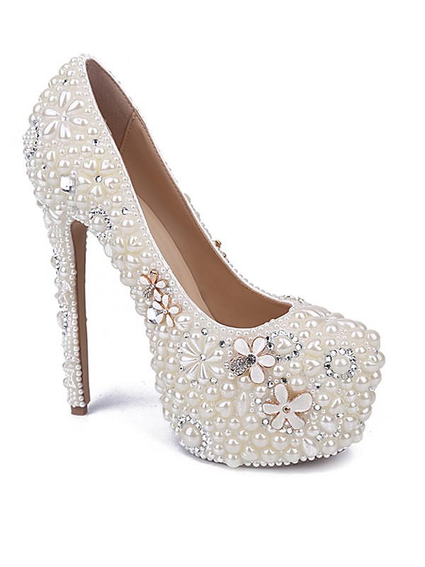 New Patent Leather Closed Toe Stiletto Heel Wedding Shoes