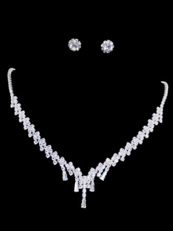 Korean Rhinestone Jewelry Set