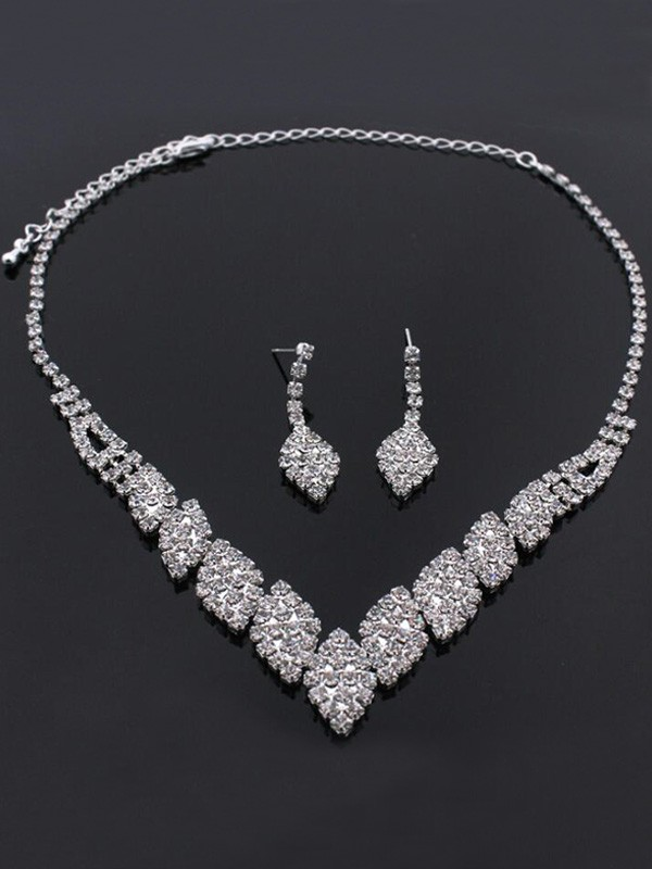 Rhinestone Wedding Bridal Jewelry Set