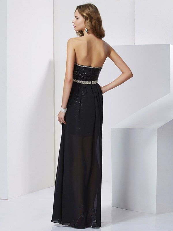 A-Line/Princess Strapless Short Chiffon Dress