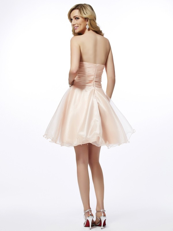 A-Line/Princess Sweetheart Short Tulle Cocktail Dress