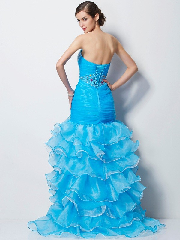 Mermaid Sweetheart Asymmetrical Tulle Dress