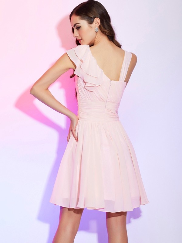 A-Line/Princess Short Chiffon Cocktail Dress