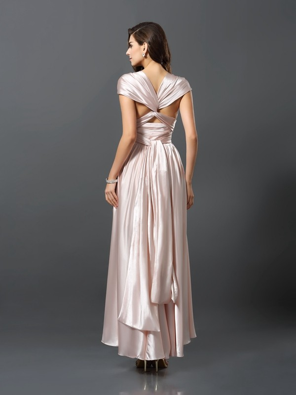 Sheath/Column Asymmetrical Silk like Satin Bridesmaid Dress