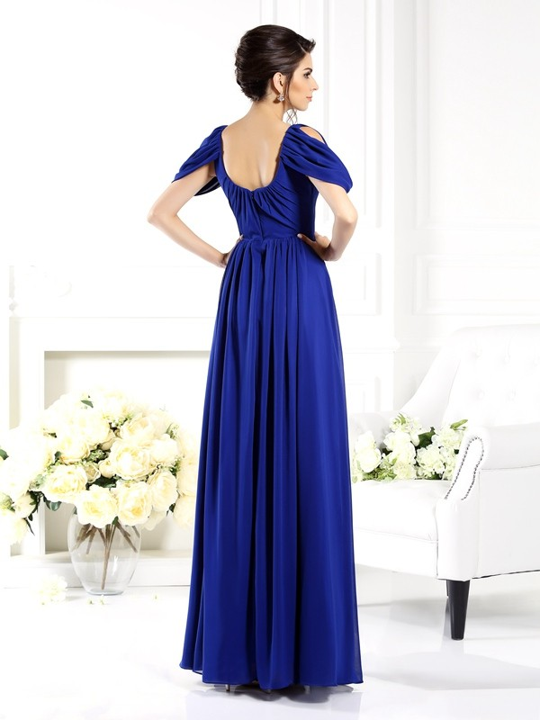 A-Line/Princess Scoop Long Chiffon Mother of the Bride Dress
