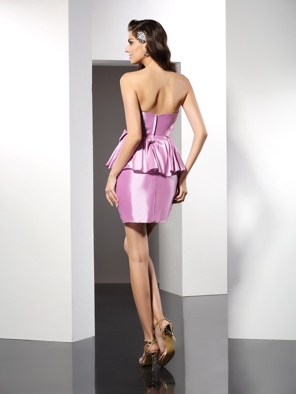 Sheath/Column Sweetheart Short Taffeta Cocktail Dress