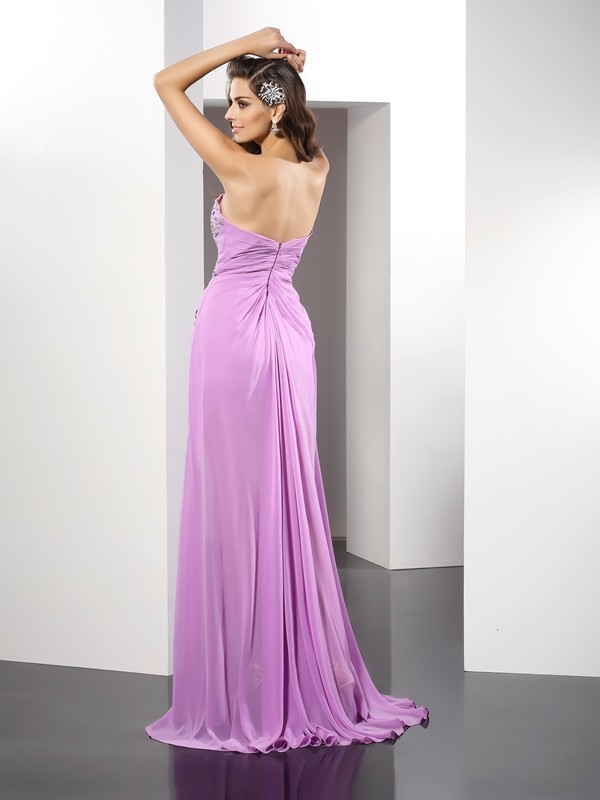 Sheath/Column Sweetheart Long Silk like Satin Dress