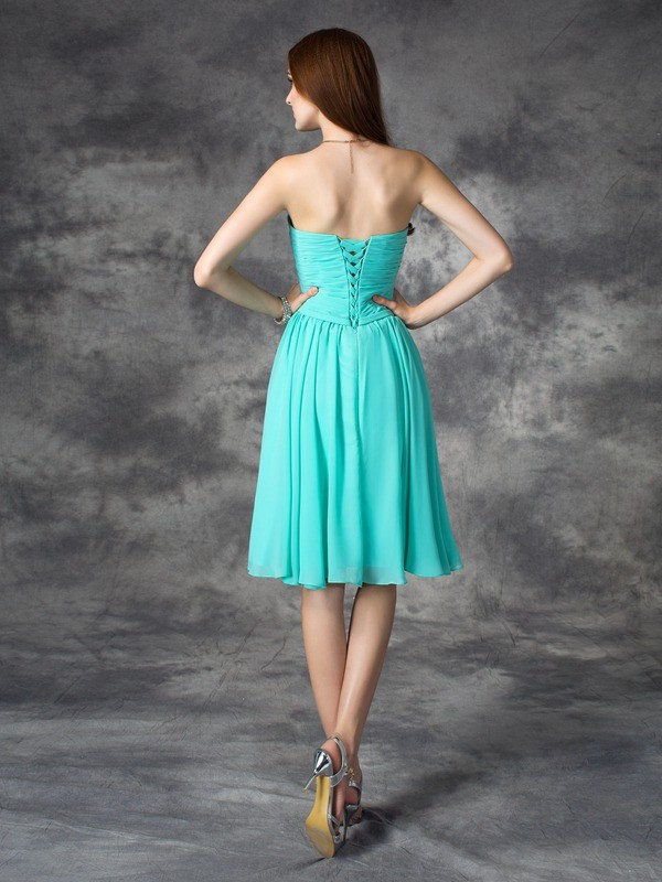 A-Line/Princess Sweetheart Short Chiffon Dress