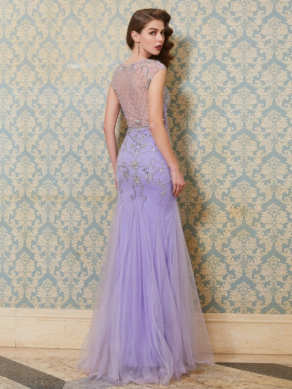 Mermaid Scoop Long Tulle Dress