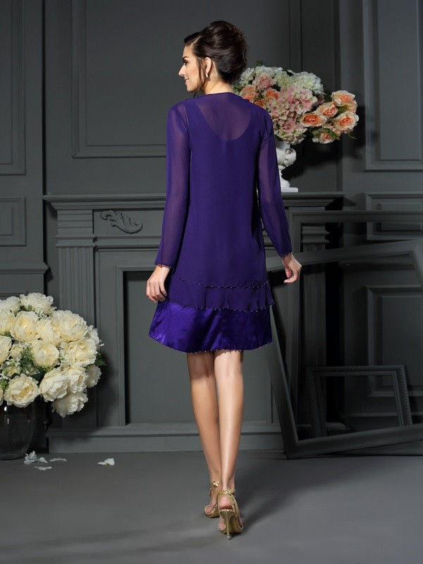 New Long Sleeves Chiffon Special Occasion Wrap