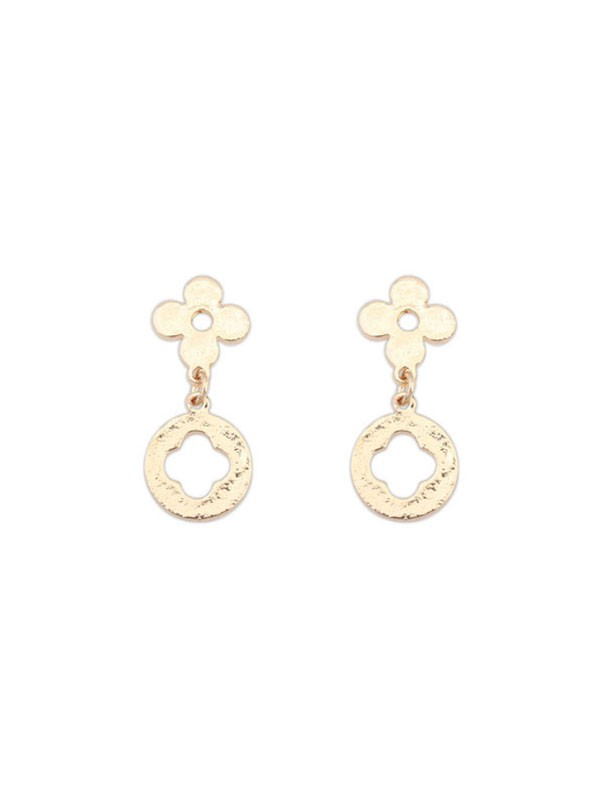 New All-match Leaf clover Earring