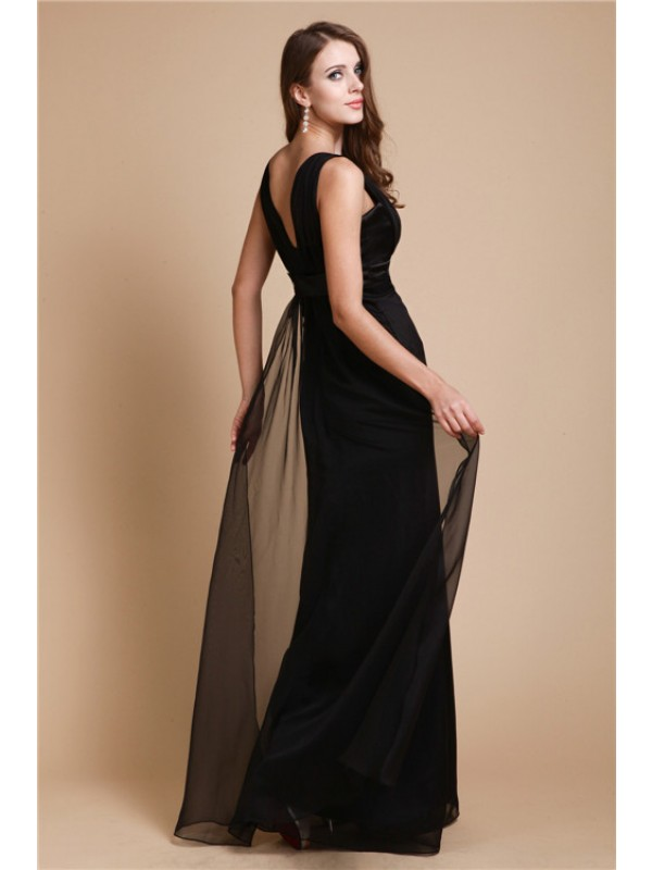 Sheath/Column Long Chiffon Dress
