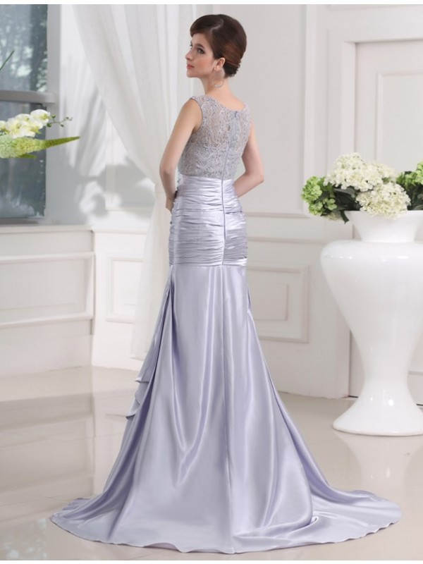 Mermaid Elastic Woven Satin Long Dress