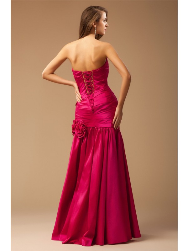 Mermaid Strapless Long Taffeta Dress