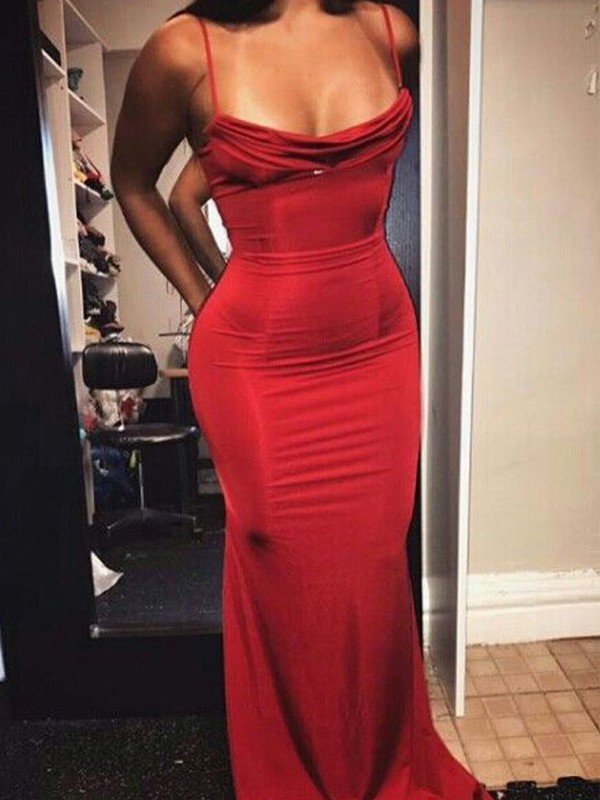 Sheath/Column Spaghetti Straps Long Spandex Dress