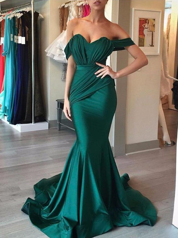 Mermaid Off-the-Shoulder Long Spandex Dress