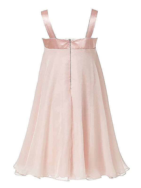 Chic A-Line Sleeveless Straps Chiffon Ankle-length Flower Girl Dress