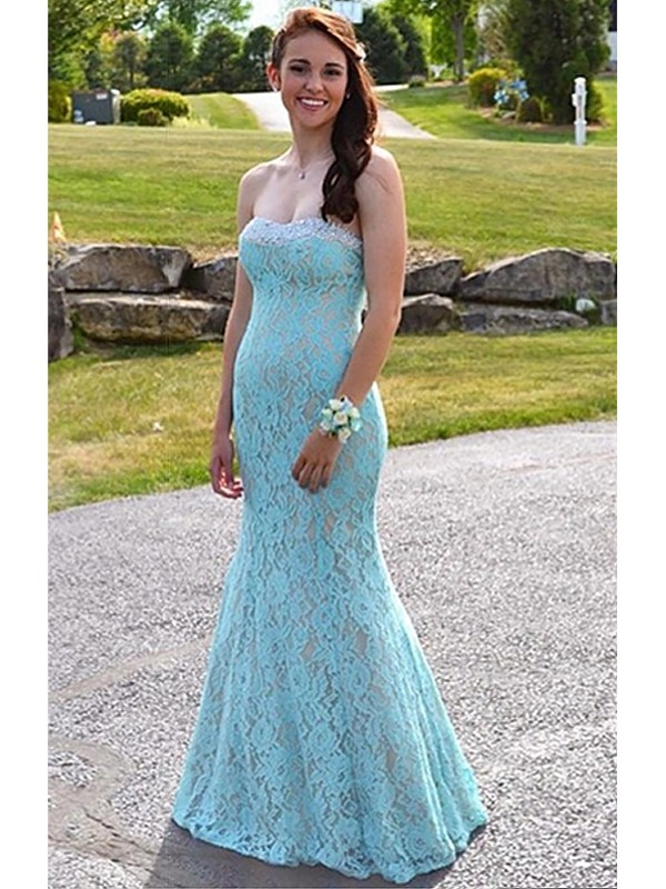 Mermaid Sweetheart Lace Long Dress