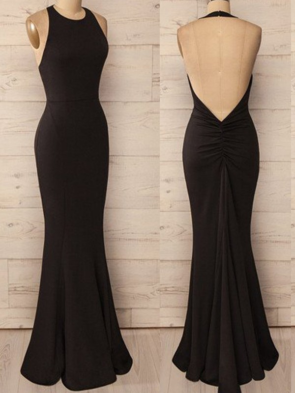 Mermaid Halter Long Spandex Dress