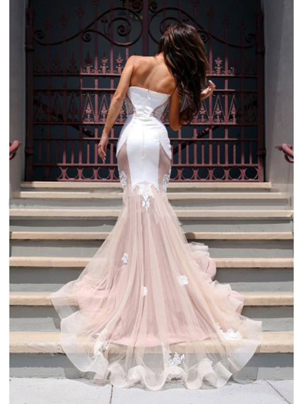 Mermaid Sweetheart Tulle Long Dress