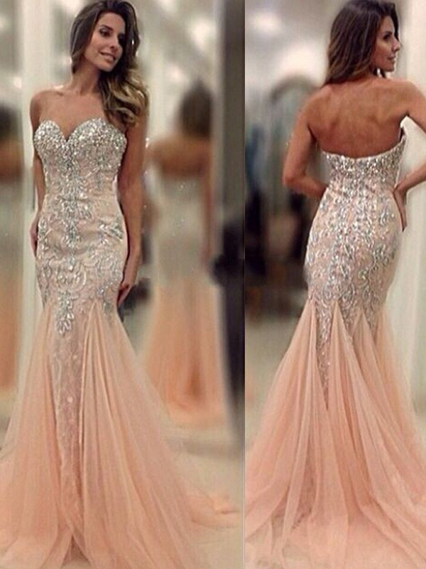 Mermaid Sweetheart Long Tulle Dress