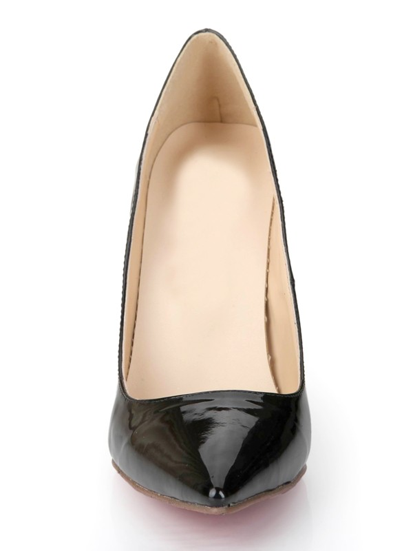 New Patent Leather Closed Toe Stiletto High Heels