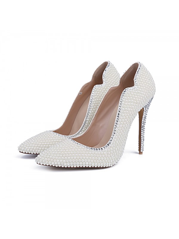 New Closed Toe Patent Leather Stiletto Heel Wedding Shoes