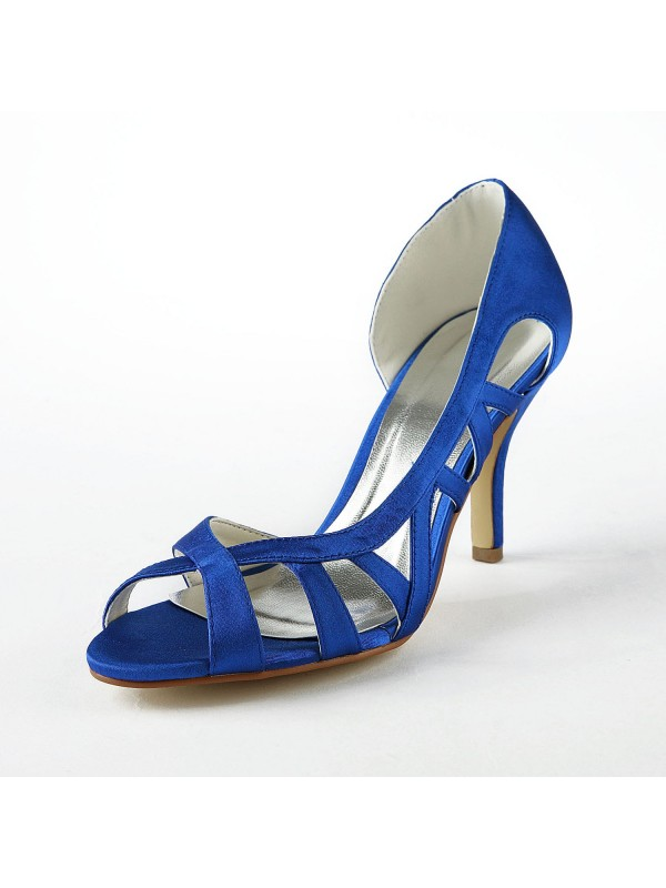 New Satin Upper Stiletto High Heels Sandals Shoes