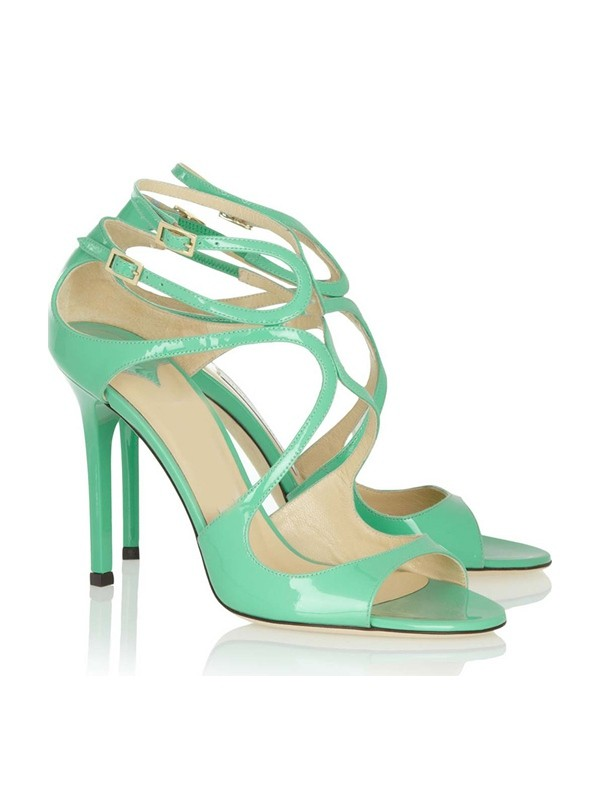 New Peep Toe Stiletto Leather Buckle Sandals Shoes