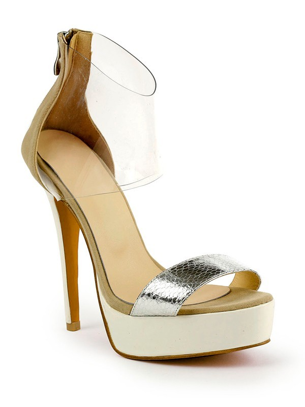 New Stiletto Leather Peep Toe Platform Sandals Shoes