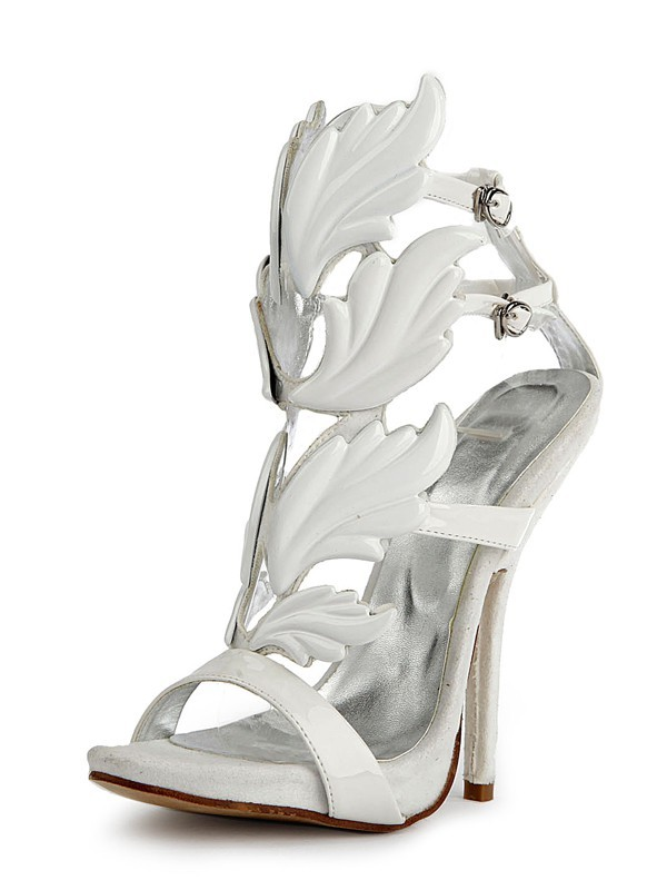 New Patent Leather Peep Toe Stiletto Heel Platform Sandals Shoes