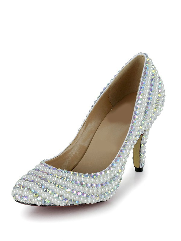 New Stiletto Heel Closed Toe Patent Leather Wedding Shoes