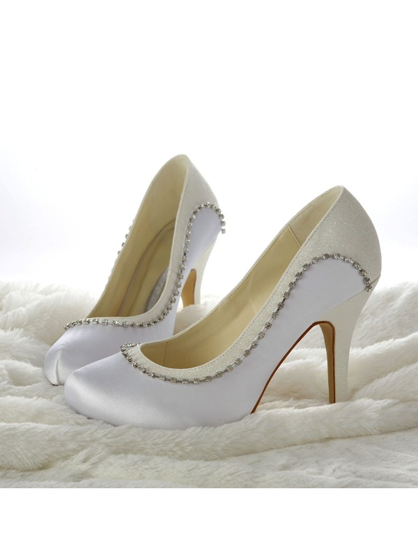 New Stiletto Heels Closed-toe Wedding Shoes